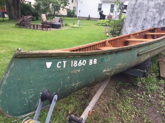 18' Cedar/Canvas Canoe