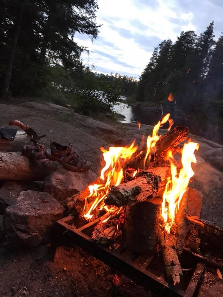 cliff hammock campsite fire