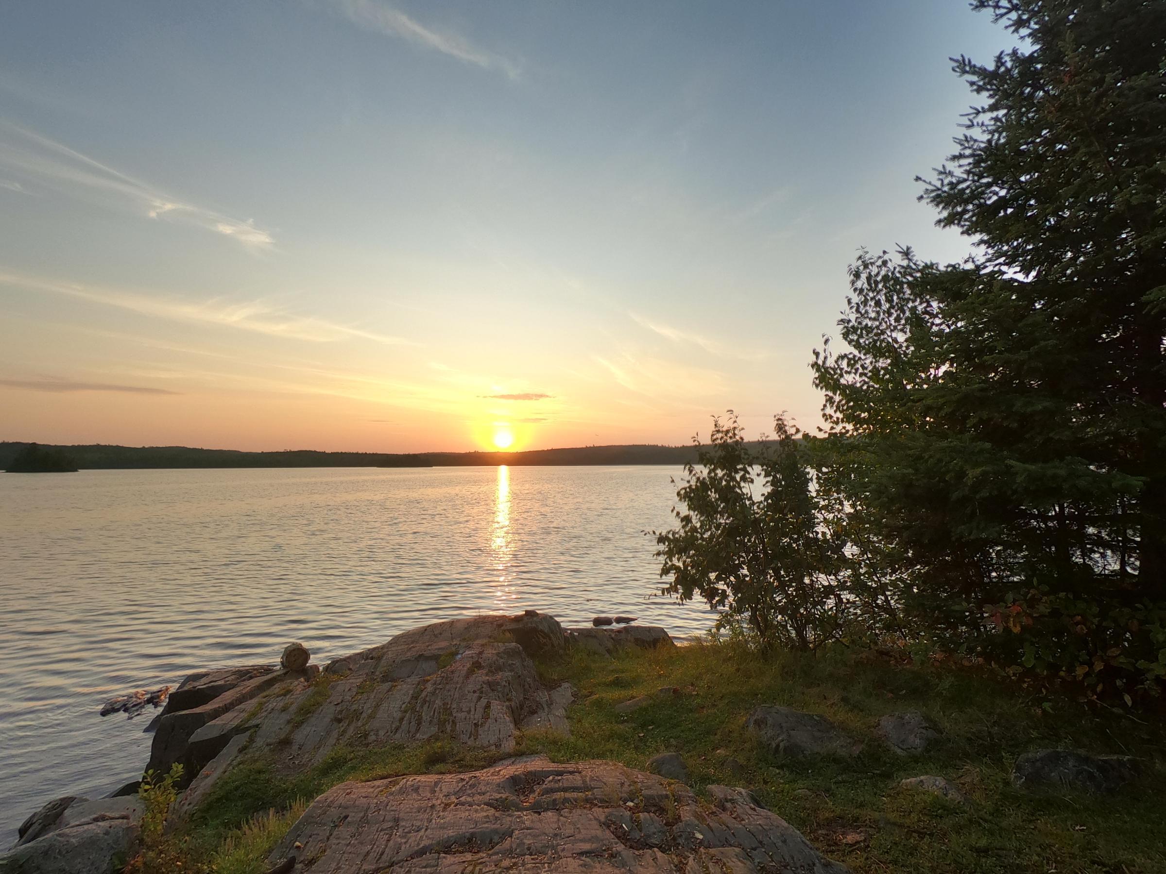 Sunrise on Ensign, campsite 1214