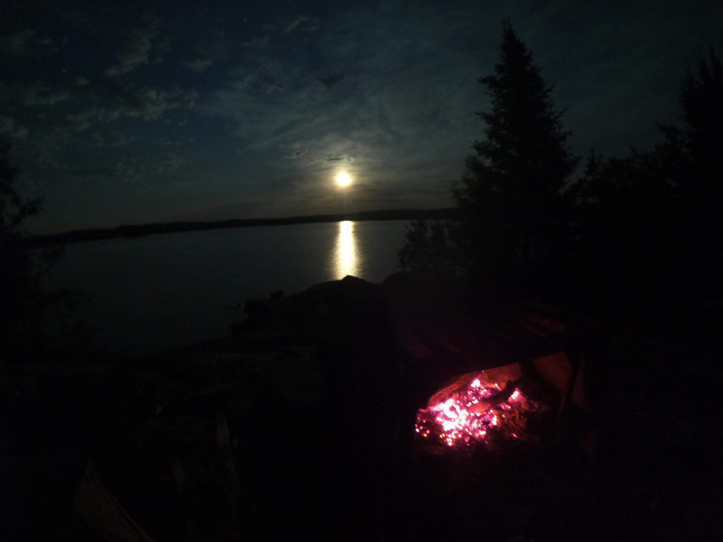 Moonrise on Ensign, campsite 1214