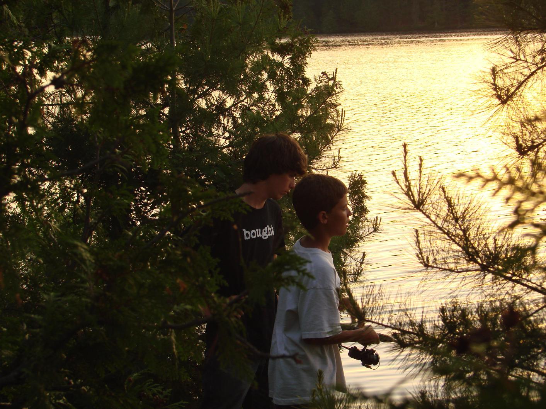 Sunset Fishing on Ester Lake