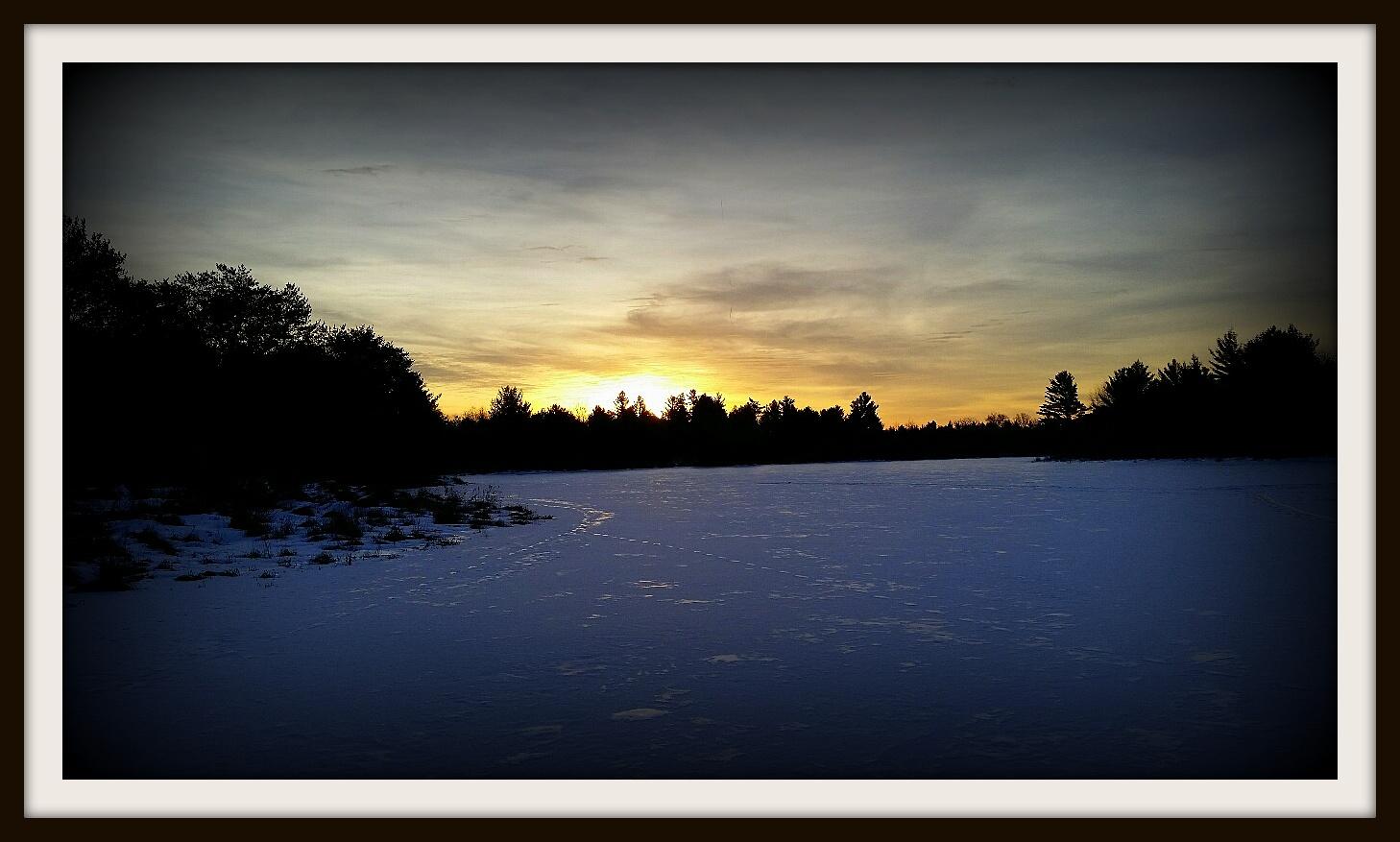 Sunrise over Teal Flowage