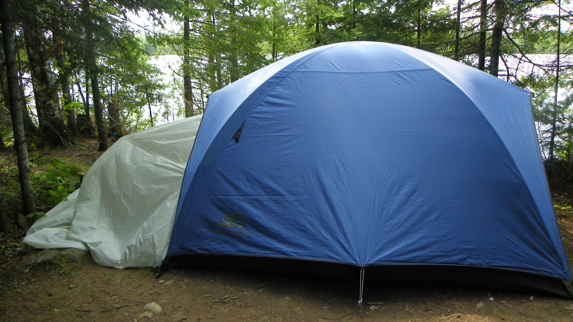 Another view of tent with vestibule