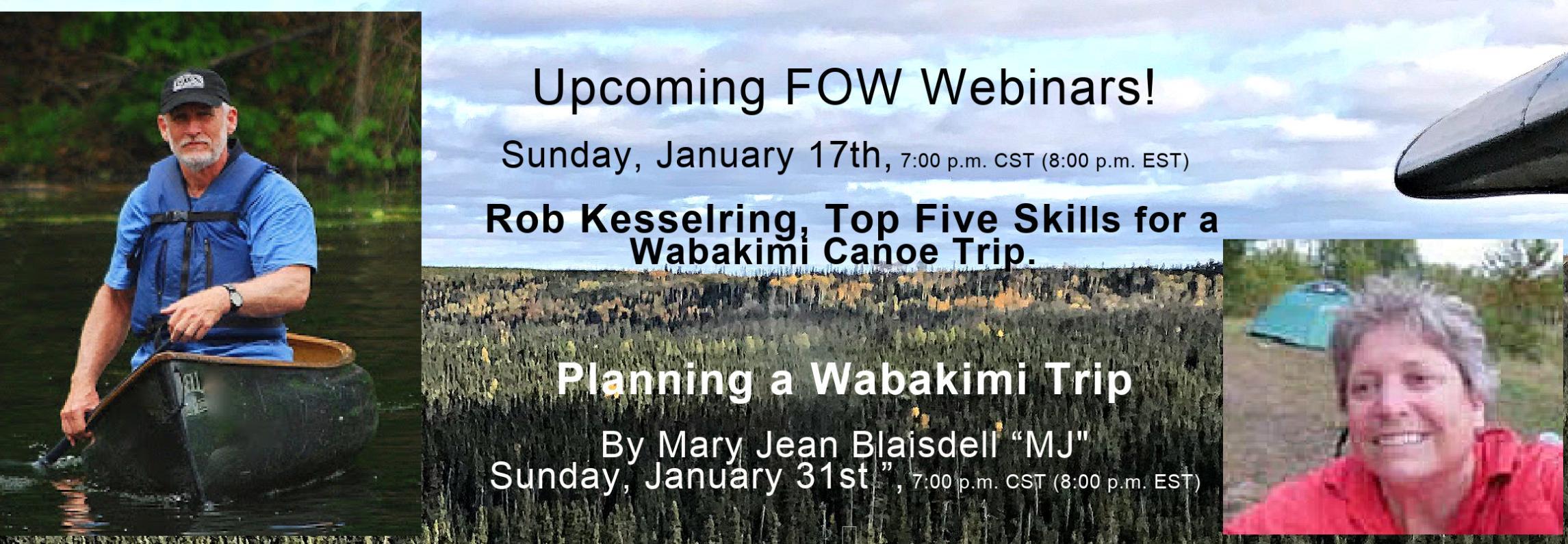 January 2021 FOW Webinars