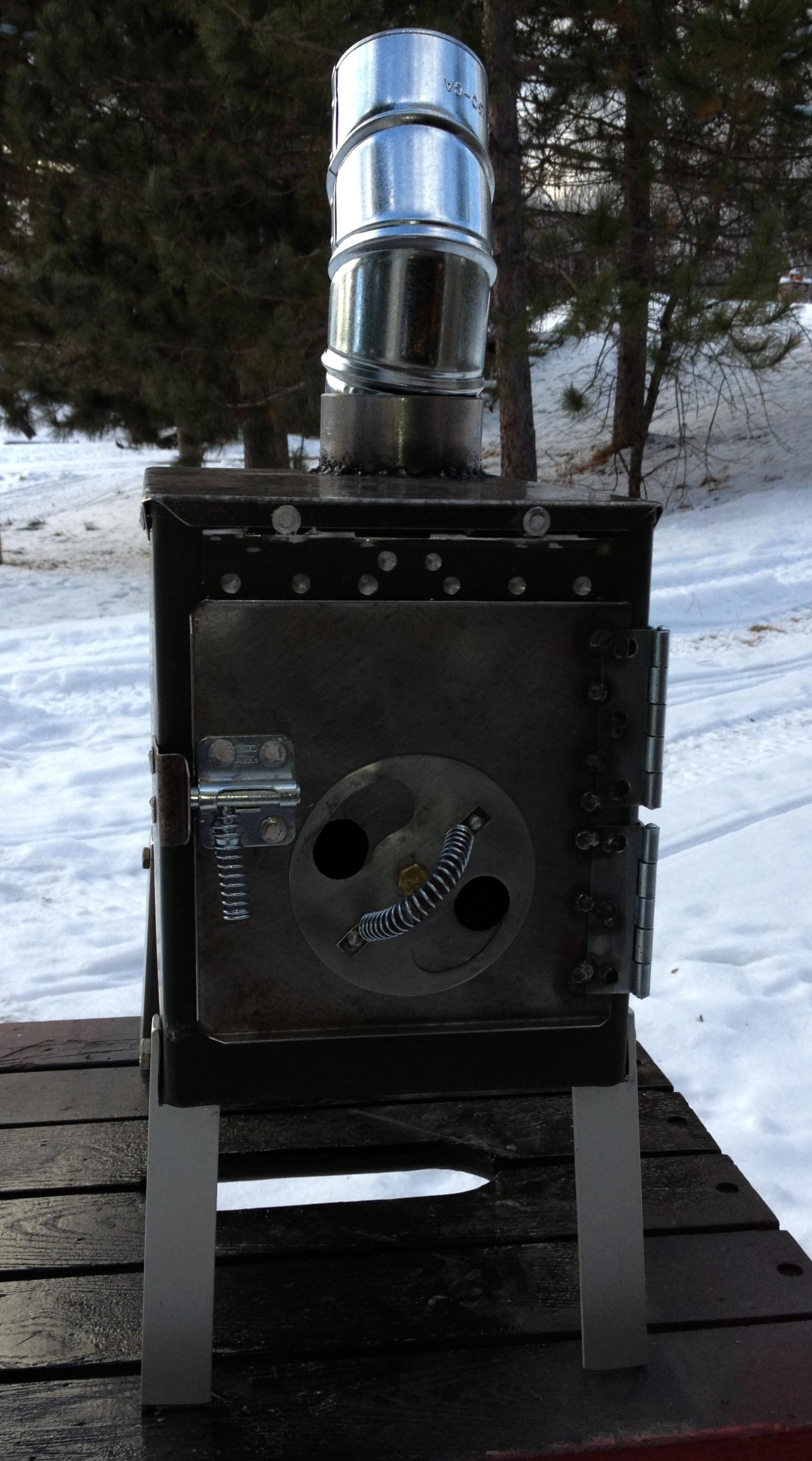 Ammo Box Wood Stove by animal tendencies
