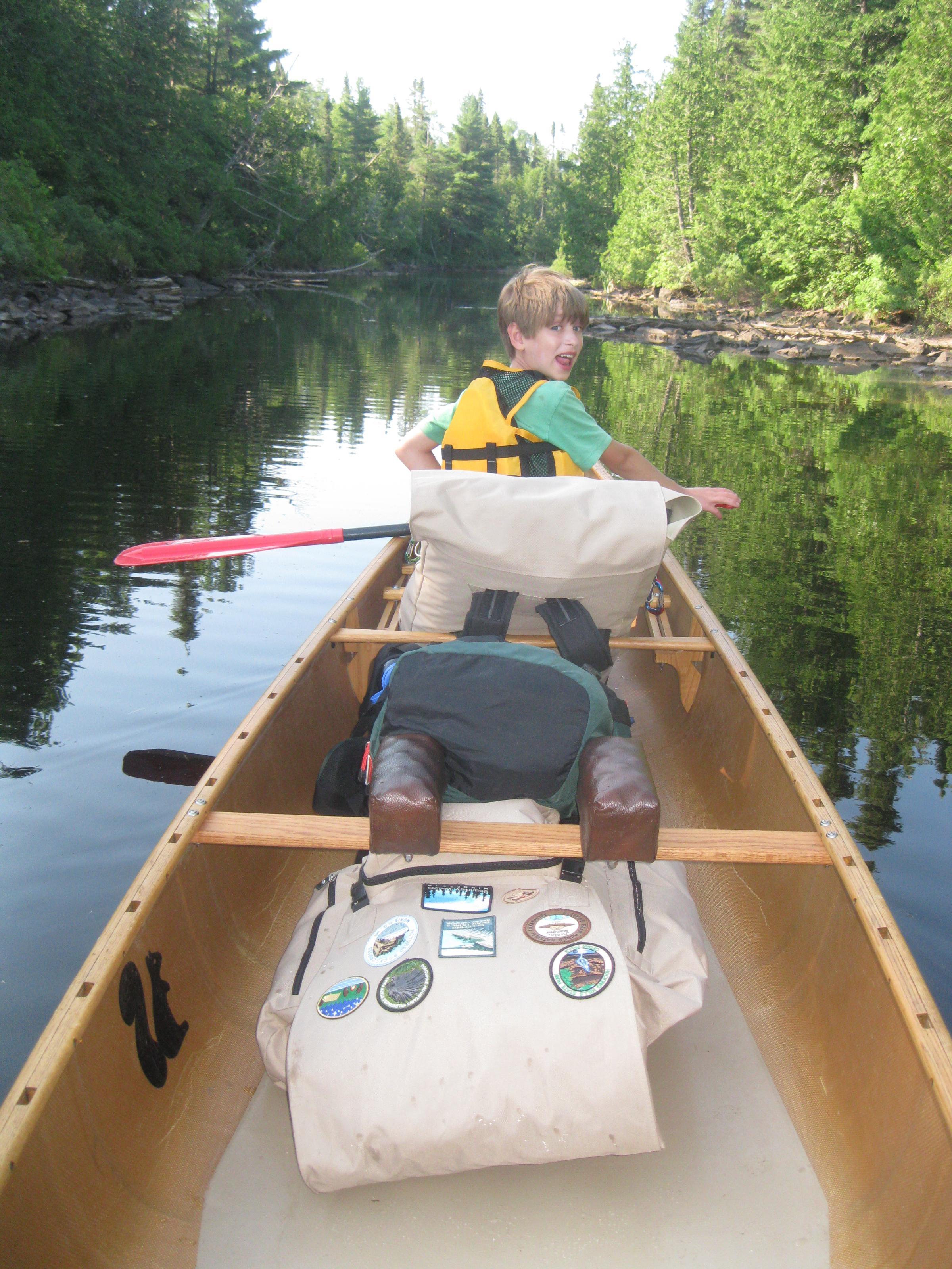 07 Packs in Canoe