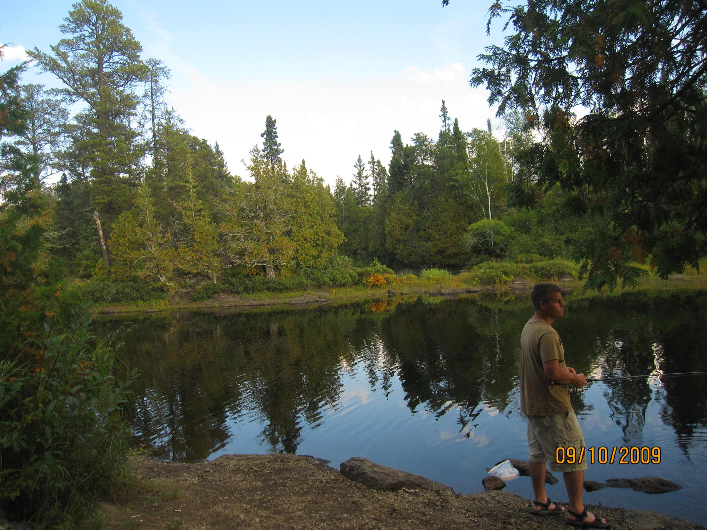 Fishing on Malberg campsite