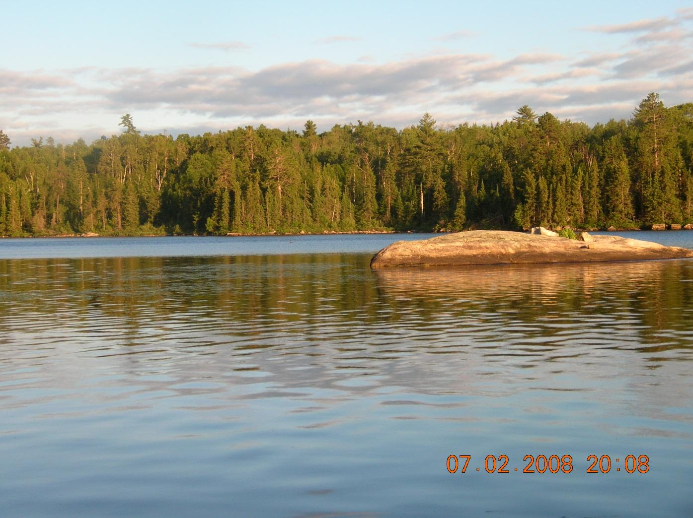 Boot lake island