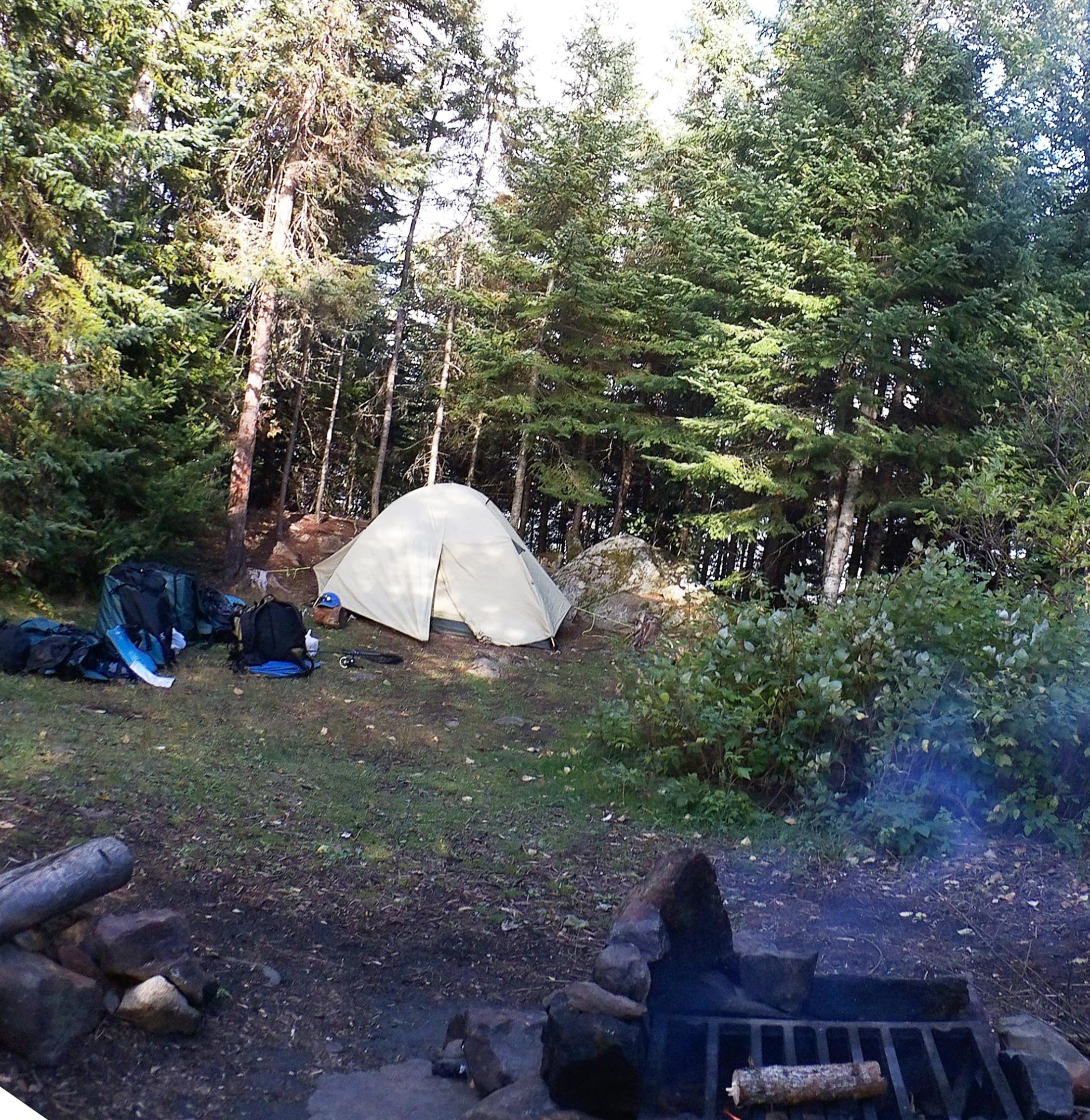 Burnt lake campsite