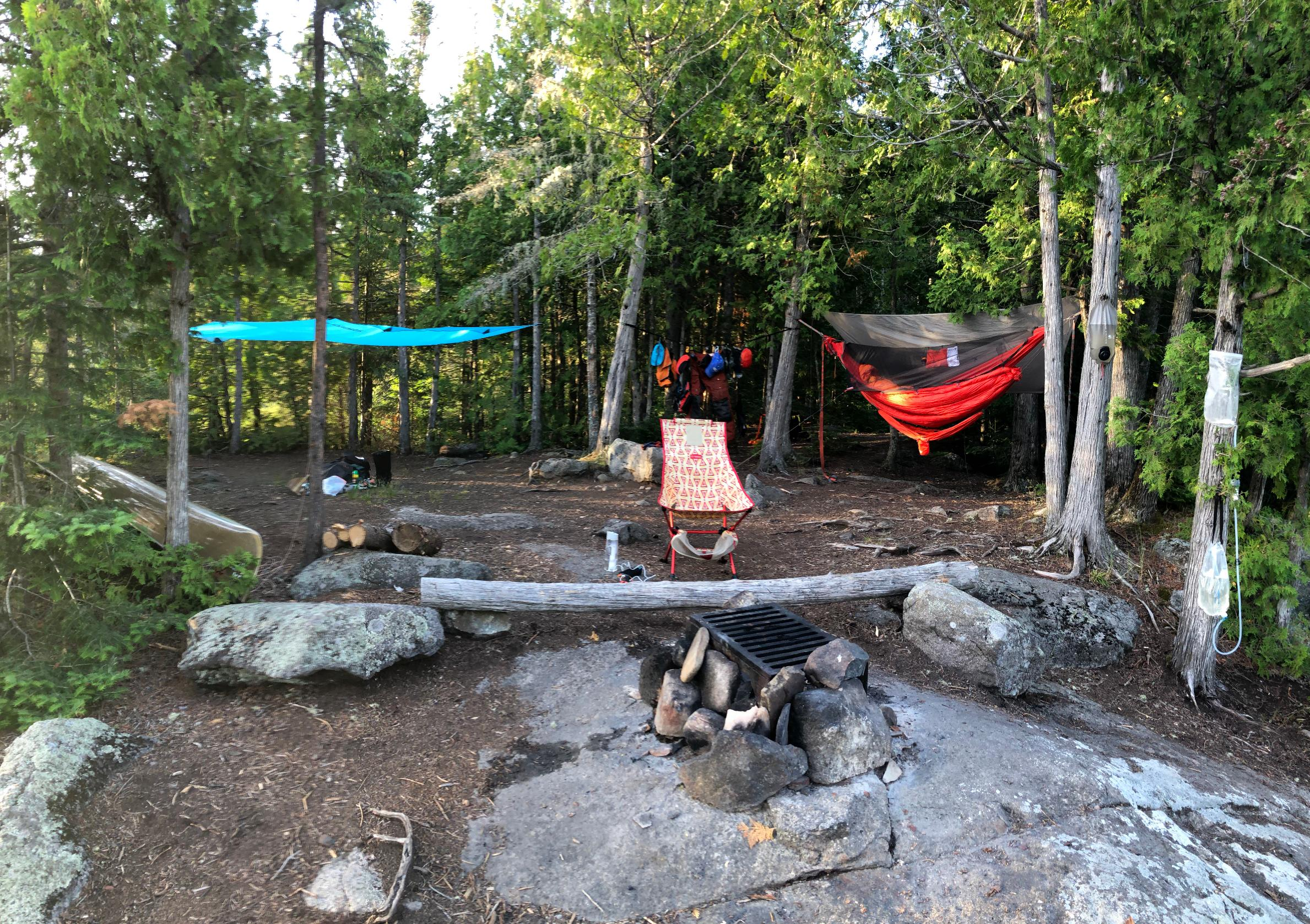 Horseshoe Lake far eastern campsite