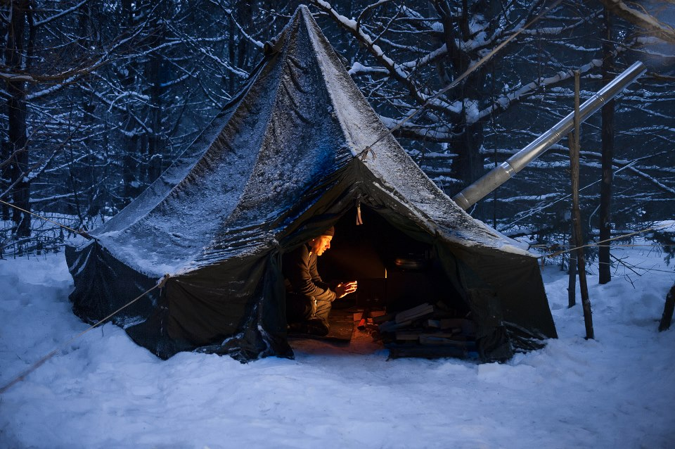Heres a couple pics of my setup. & BWCA m1950 hex tent Boundary Waters Gear Forum