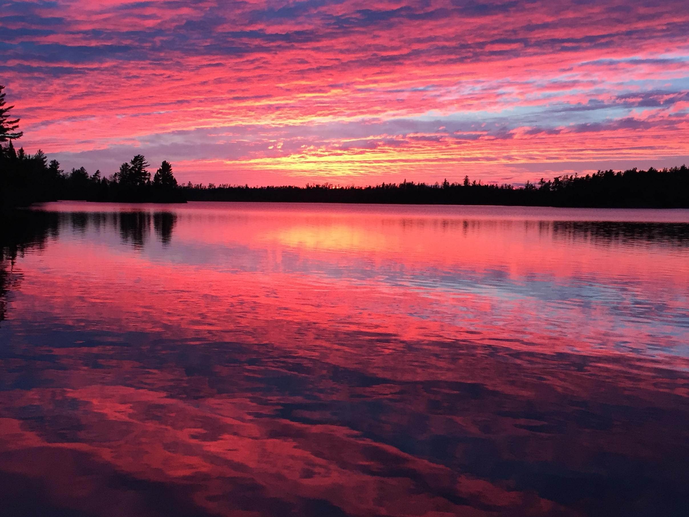 Red sky at night - BWCA'er Delight