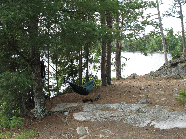 Claire enjoying the hammock on Fairy