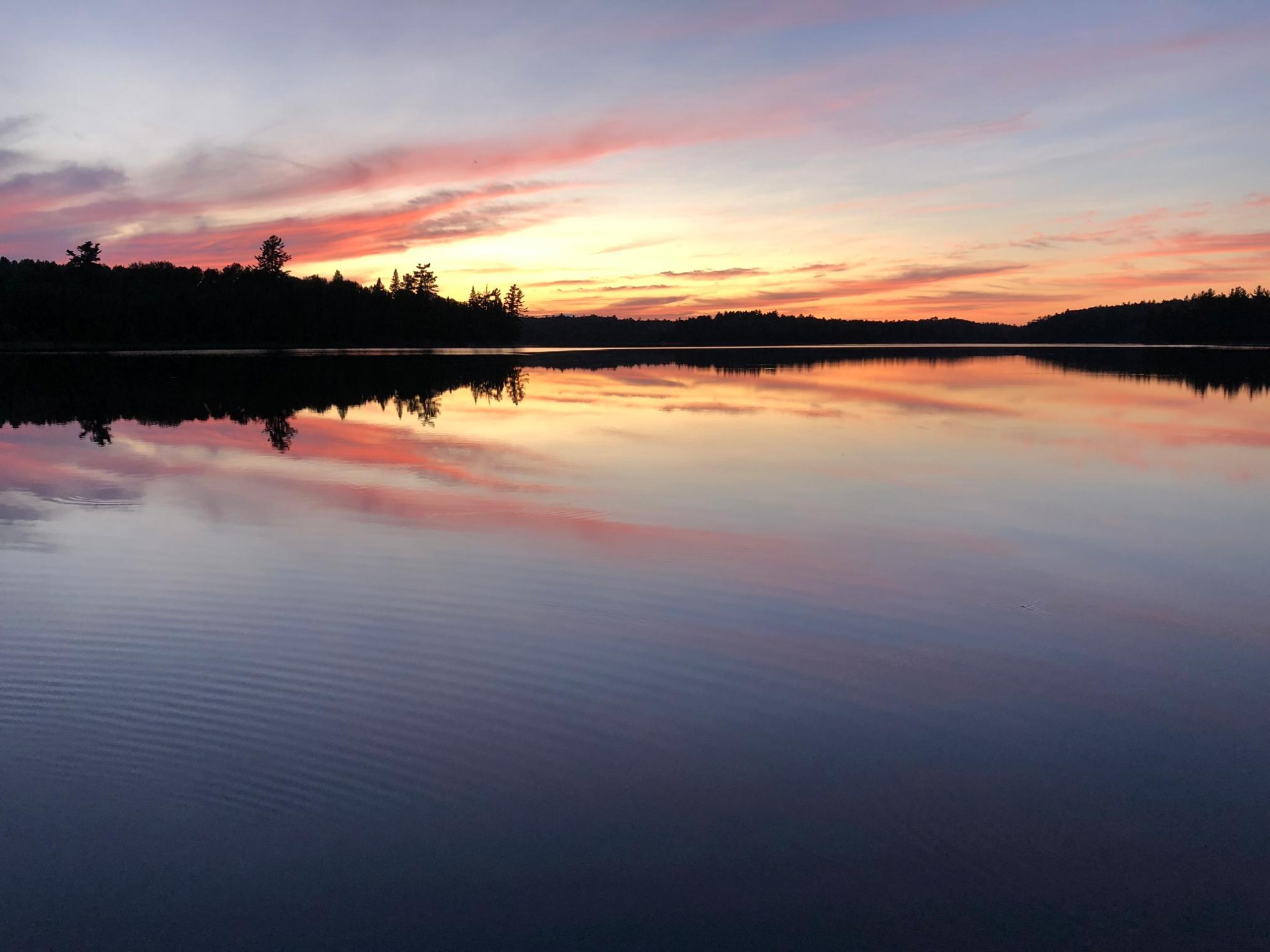 Sunset at Shell Lake
