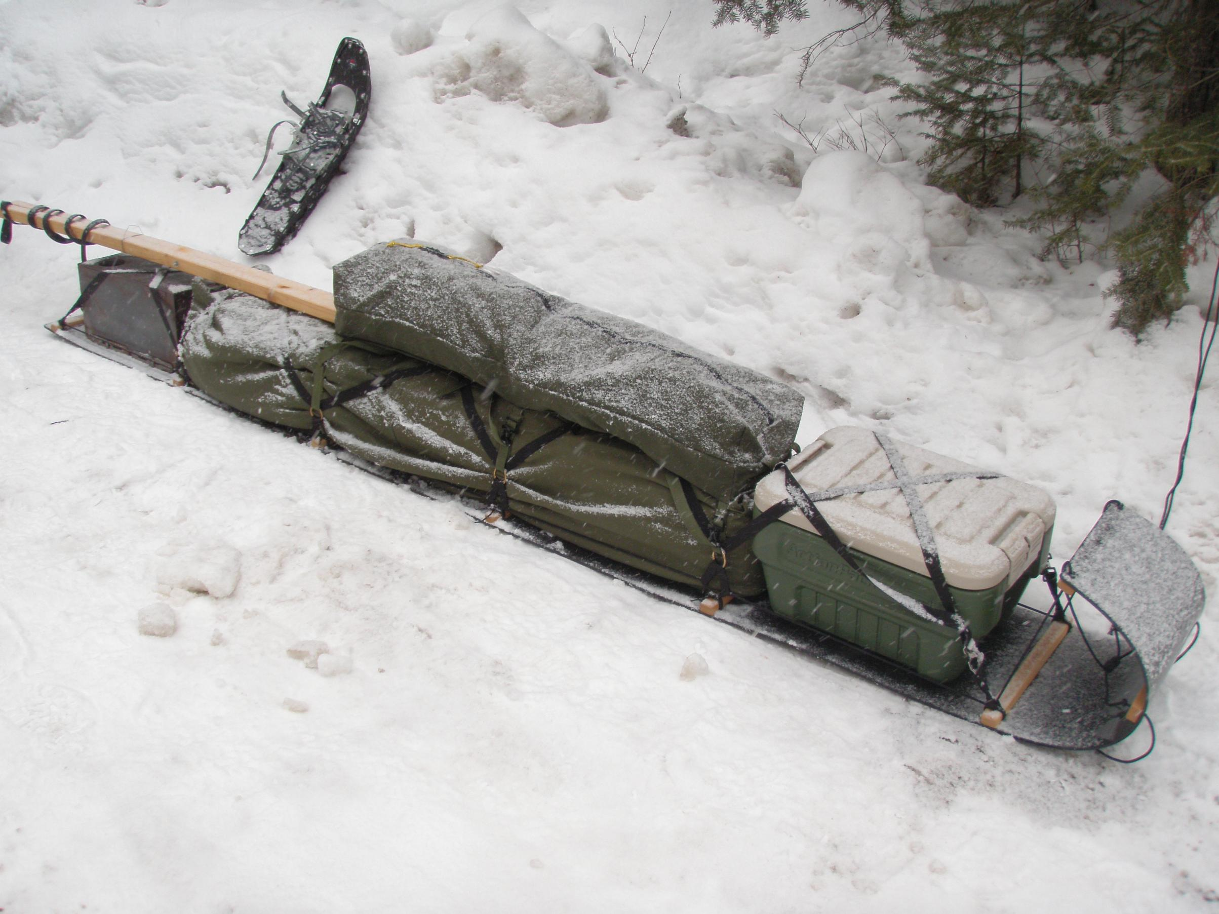BRS toboggan with duffels