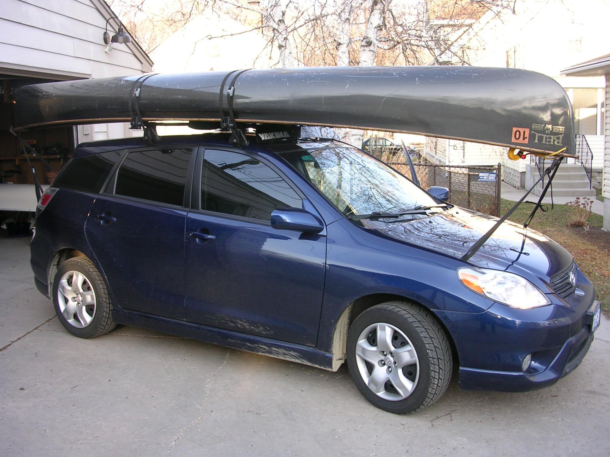 Bwca Hauling Canoe Toyoto Corrolla Boundary Waters Gear