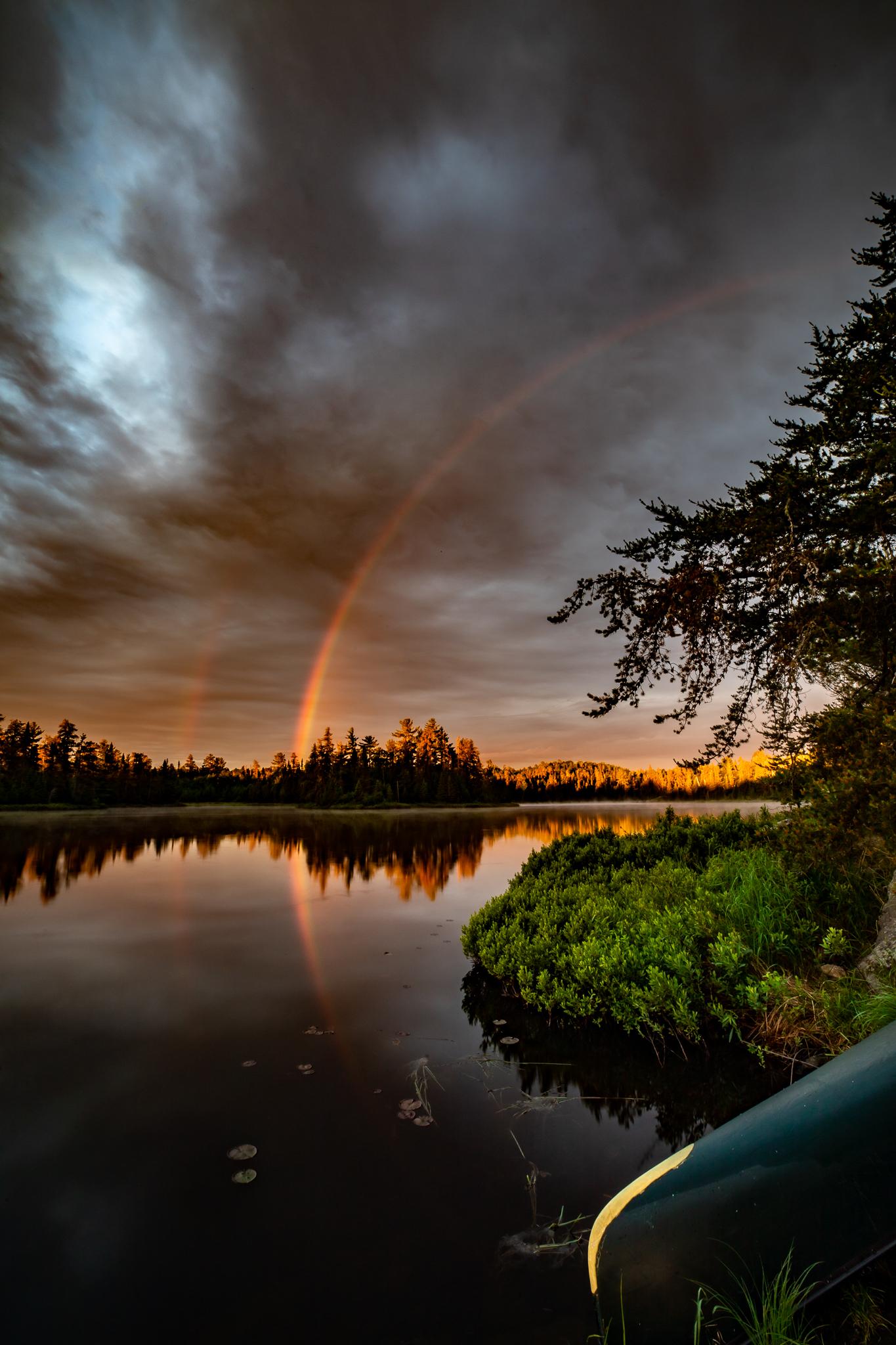 Double Rainbow Sunrise - Portrait