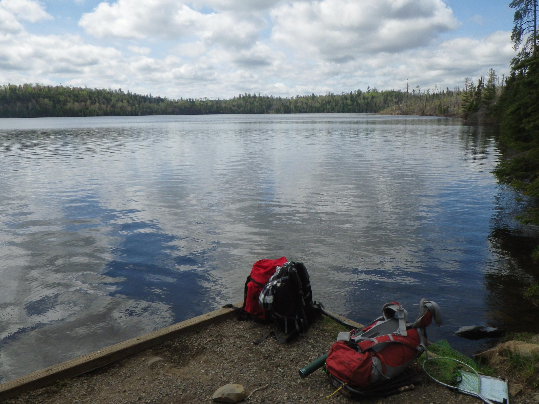 Landing at round lake