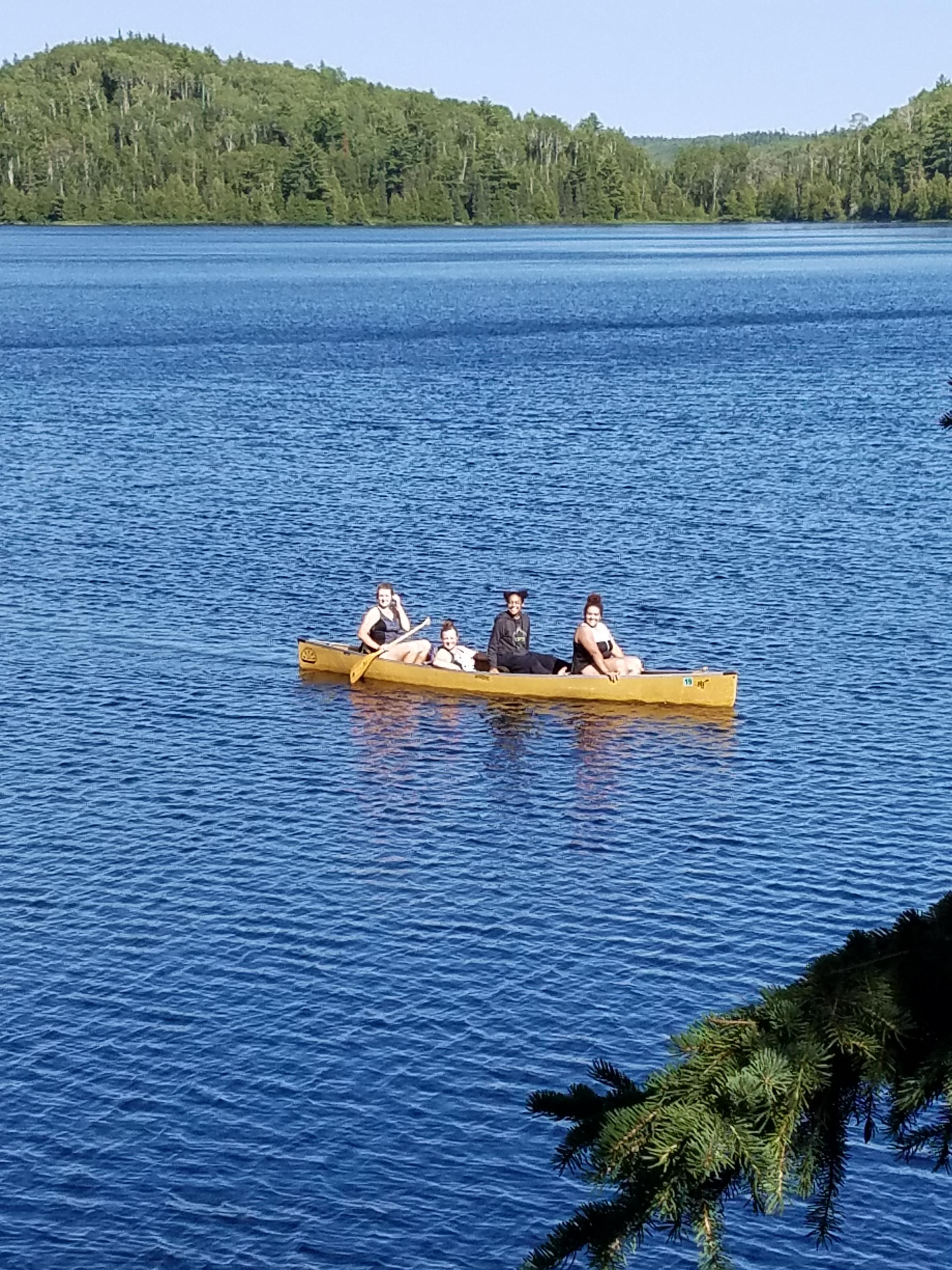 Girls in Canoe in Canoe