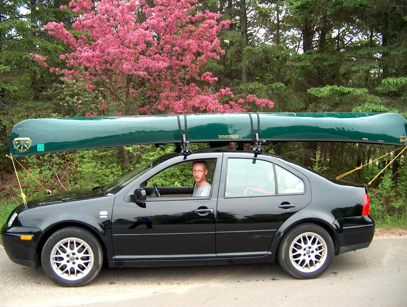 Bwca Carrying A Canoe On A Compact Car Boundary Waters