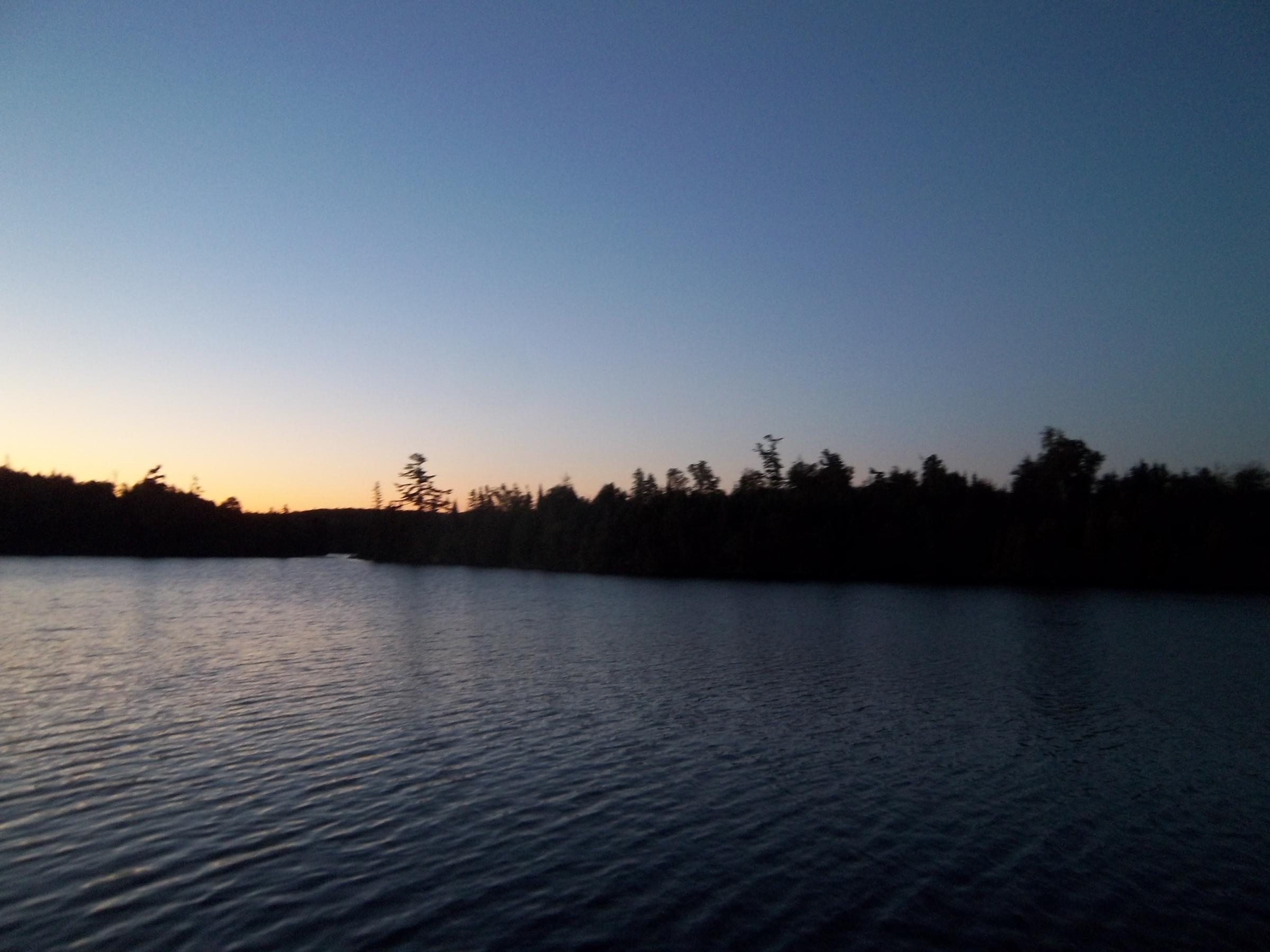 Gaskin lake at dawn